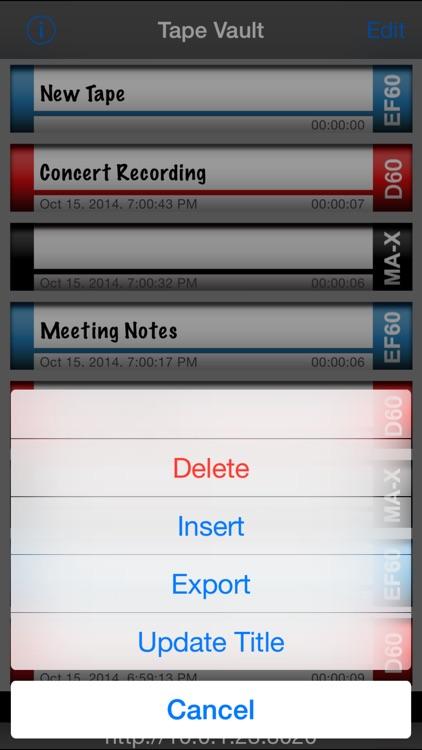 Tapes screenshot-3