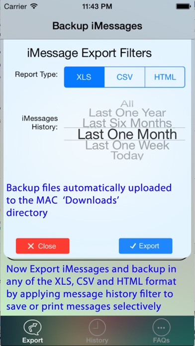 Export Messages - Save Print Backup Recover Text SMS iMessagesのおすすめ画像4