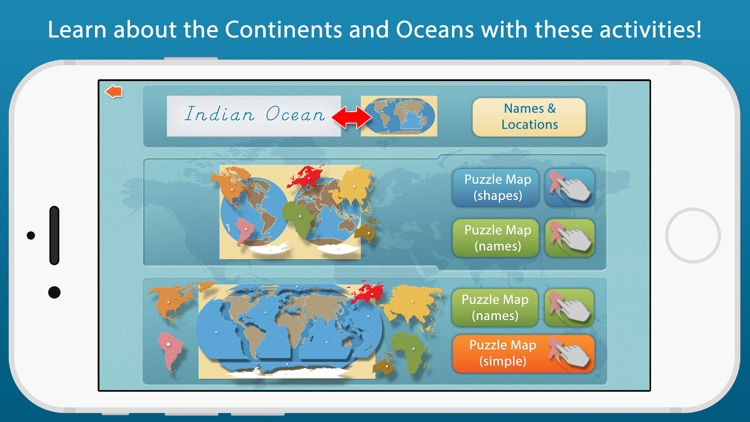 World Continents and Oceans - A Montessori Approach To Geography
