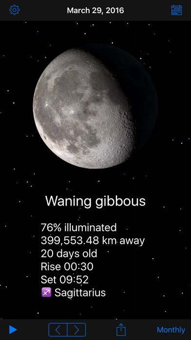Screenshot for Phases of the Moon in United States App Store