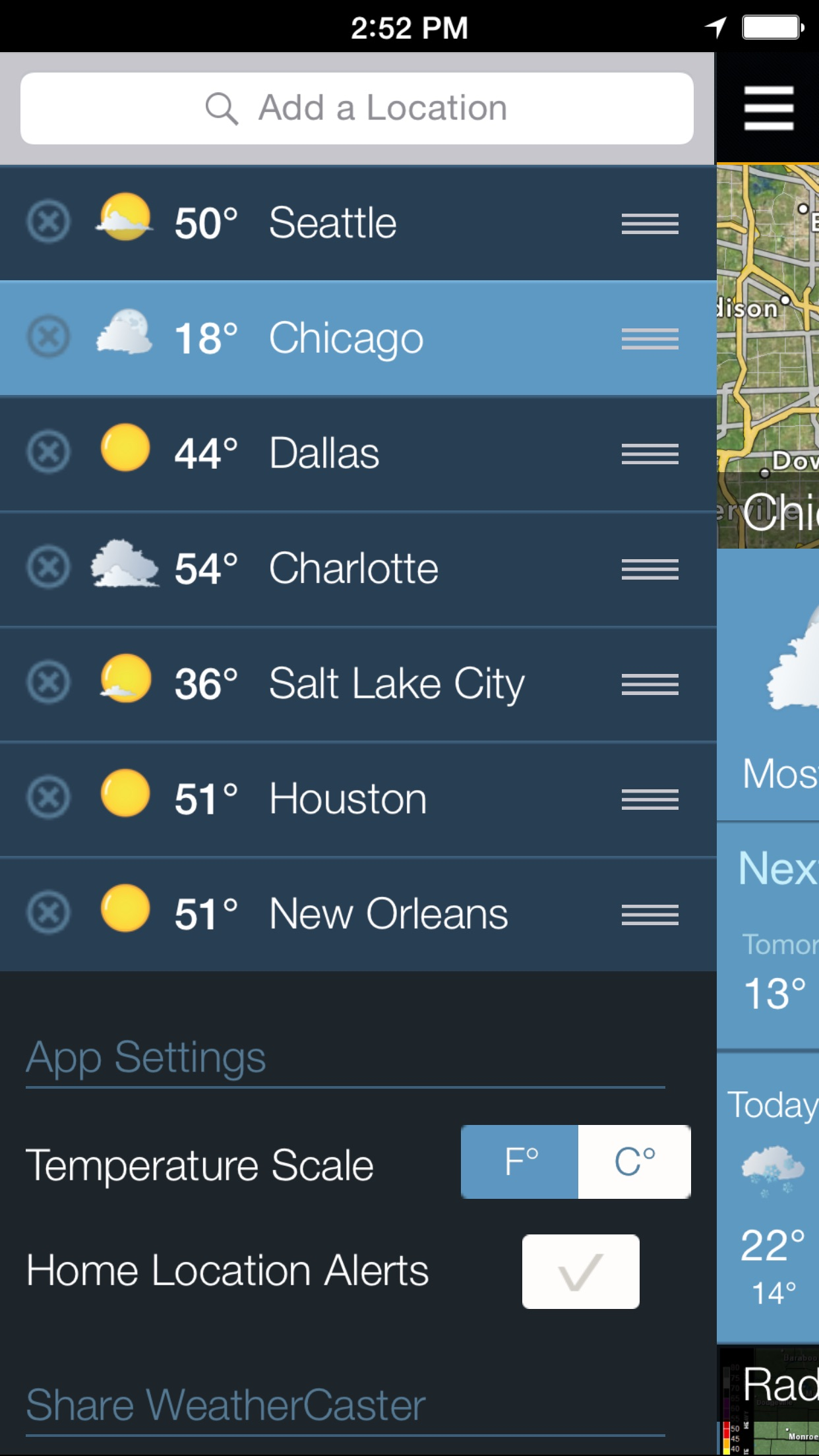 WeatherCaster - Weather radar, forecast, alerts, and hurricane tracker Screenshot