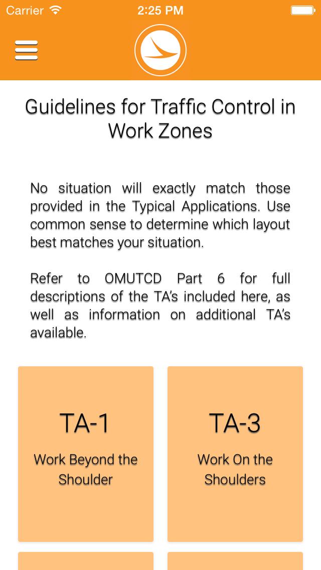 ODOT Work Zone Pocket Guide screenshot one
