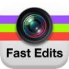 高速な編集が - を確認し、あなたの写真W/画像エフェクトと編集エフェクトのための高速クイックエディットを作成アイコン
