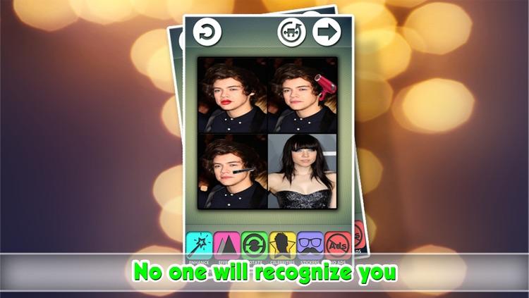 Makeup Transformation Photo Editor : Attractive Celebrity Parody Crop-per Effect-s screenshot-