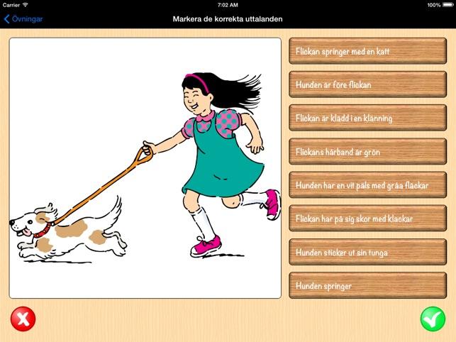 Montessori Lesen und Spielen auf Schwedisch - Schwedisch mit Übungen der Montessori-Methodik Lesen Lernen Screenshot