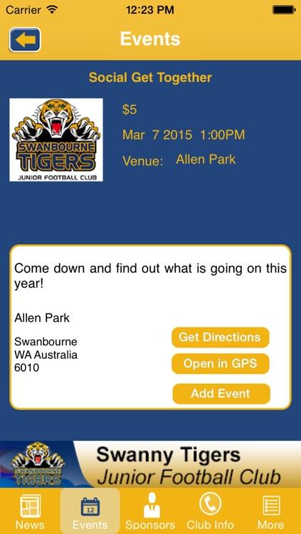 Swanbourne Tigers Junior Football Club by Third Man Apps Pty Ltd