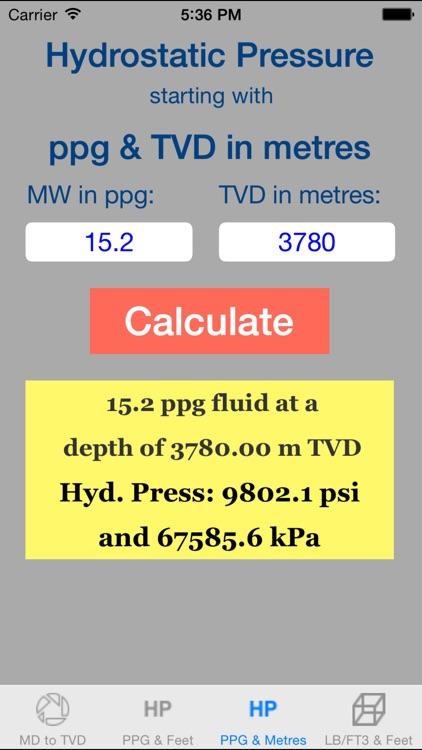 OilField Hydrostatic Pressure Pro