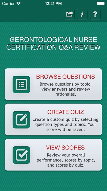 Gerontological Nurse Certification Q&A Review screenshot-0