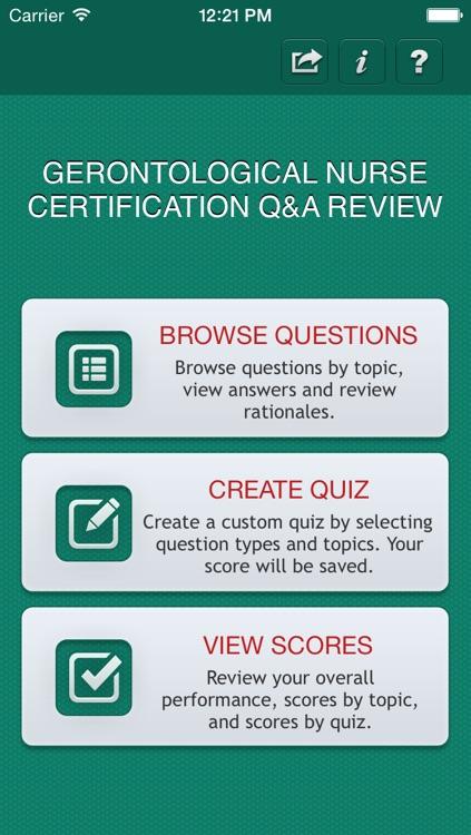 Gerontological Nurse Certification Q&A Review