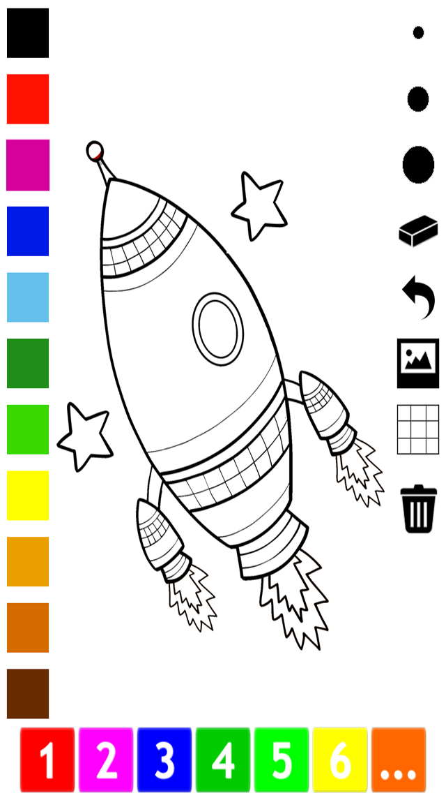 An Outer Space Coloring Book for Children: Learn to color astronaut, alien and ufo screenshot three