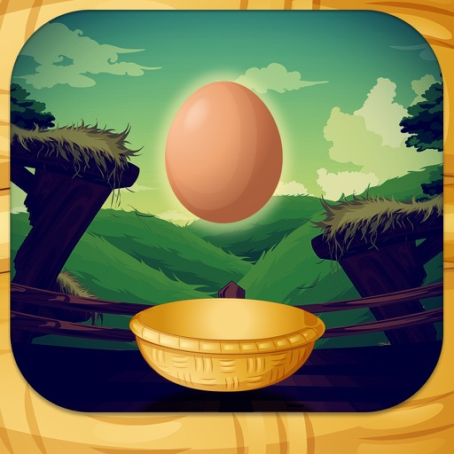 Catch the Eggs-simple and fun chicken bird dropping eggs and catching arcade game.