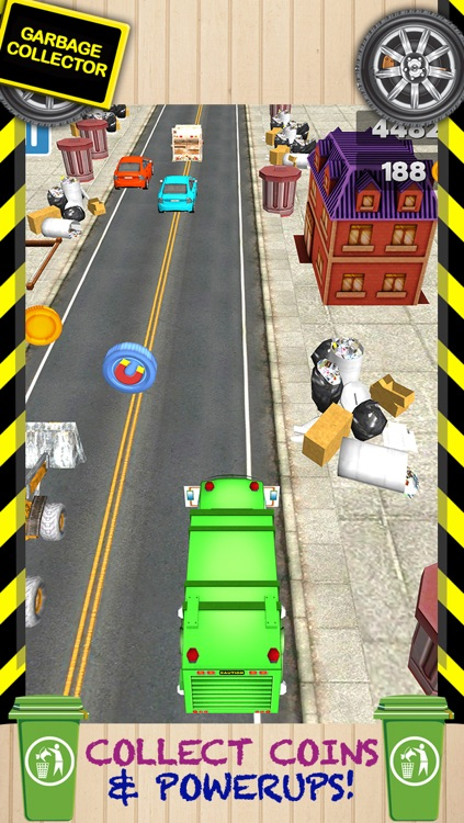 3D Garbage Truck Racing Game With Real City Racer Games And Police Cars FREE screenshot-3