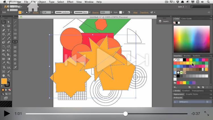 Course For Illustrator CC 101 - Illustrator Basics - Create A Logo screenshot-4