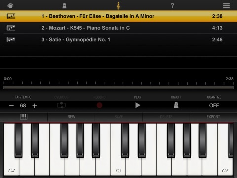 iGrand Piano for iPad Screenshot