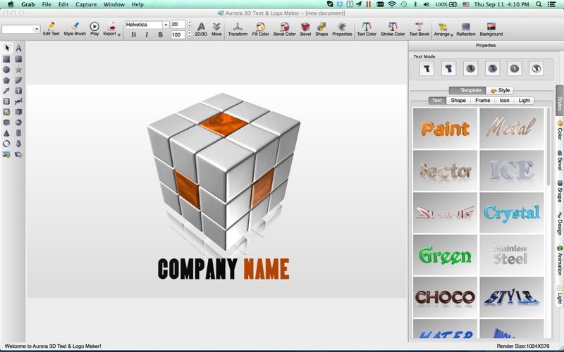 制作3D文字和Logo图标的软件 Aurora3DMaker