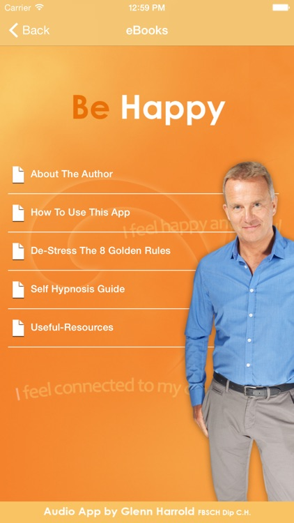 Be Happy - Hypnosis Audio by Glenn Harrold screenshot-3