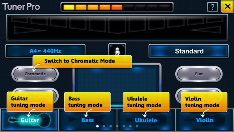 C Tuner - The accurate and easy-to-use tuner for guitar, bass, ukulele, violin and pipe