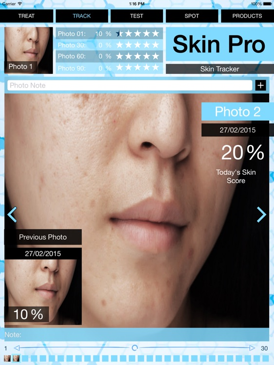 Skin Pro - Track skin problems improvement, design your daily routine & rate used products!