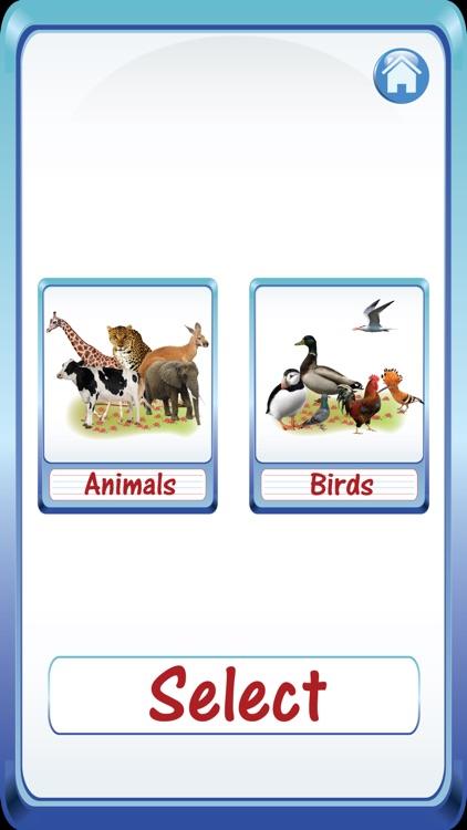 Baby Animals & Birds English ABC Alphabets Flash Cards for preschool kindergarten boys & girls apps