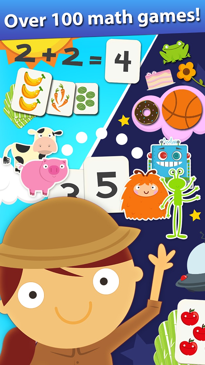 Animal Math Games for Kids in Pre-K, Kindergarten and 1st Grade Learning Numbers, Counting, Addition and Subtraction Premium Screenshot