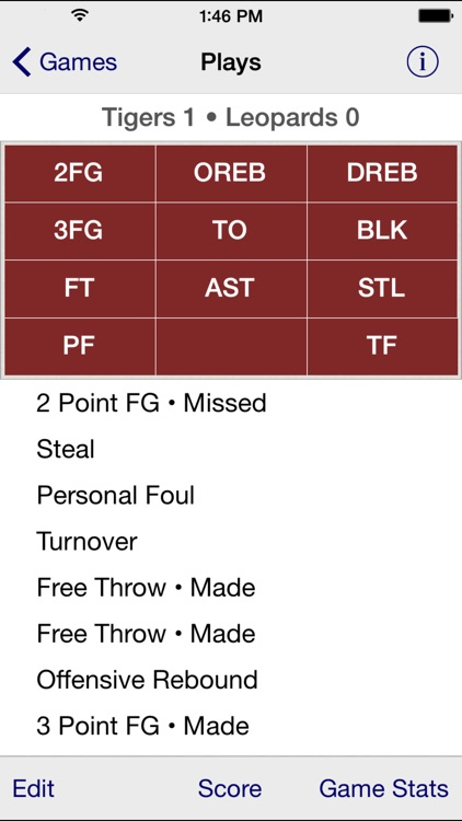 Stat Tap Basketball screenshot-1