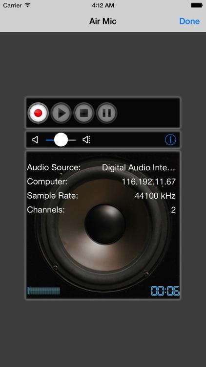Air Mic Live Audio