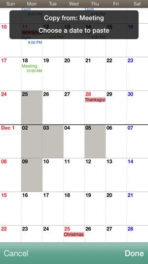 calendar montly