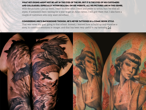 Skin Deep Tattoo Magazine screenshot