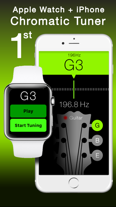 Free Guitar and String Instruments Chromatic Tuner with