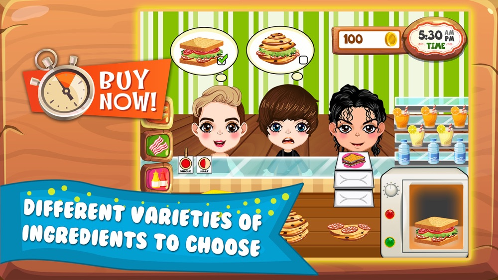Sandwich Lunch Food Maker Mania - sim mama story & make cooking dash games for kids hack tool