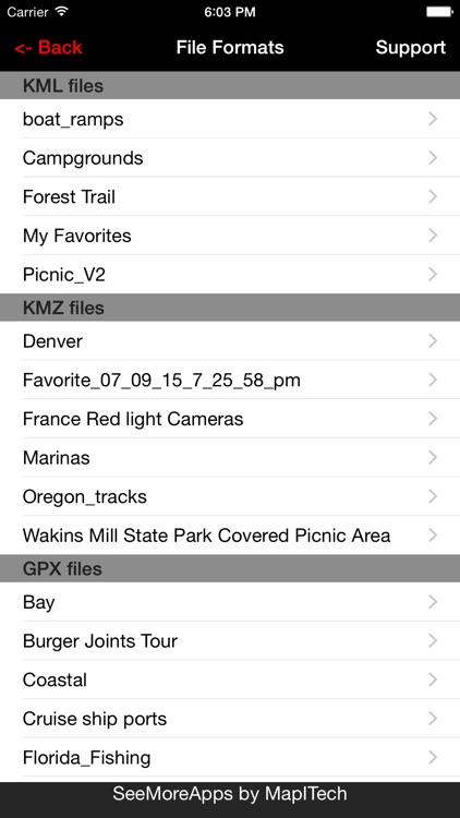 Kml Kmz Gpx Viewer Pro and converter on gps map