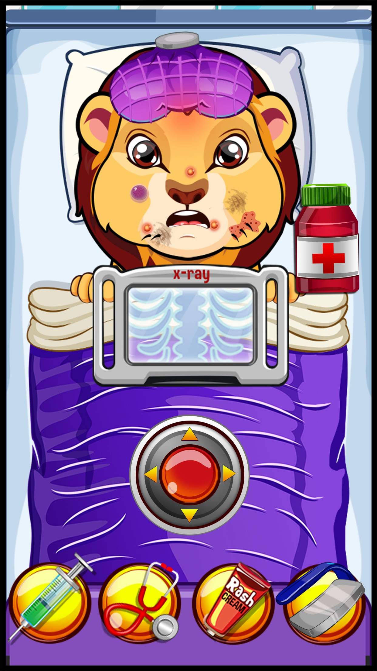 A Little Crazy Pet Vet Baby Boo Hospital - My virtual fun care dentist doctor nose eye hair nail salon office for plush pets makeover games for kids boys & girls Screenshot