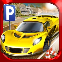 City Driving Test Car Parking Simulator - Real Weather Racing Sim Run Race Games