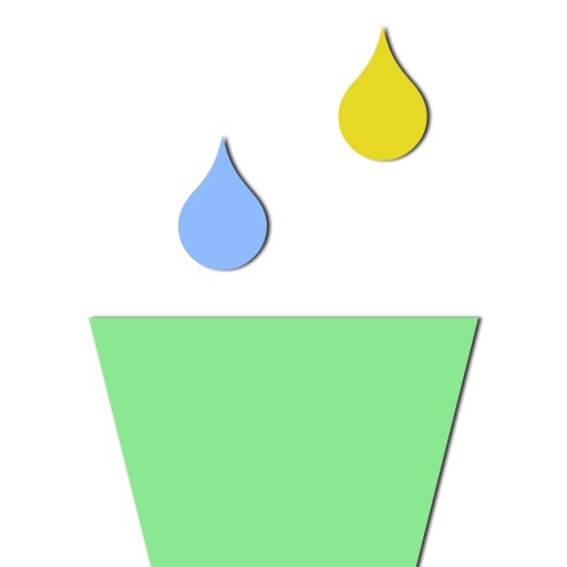 Collect Colorful Raindrop With Glass Cup at Finger Tip