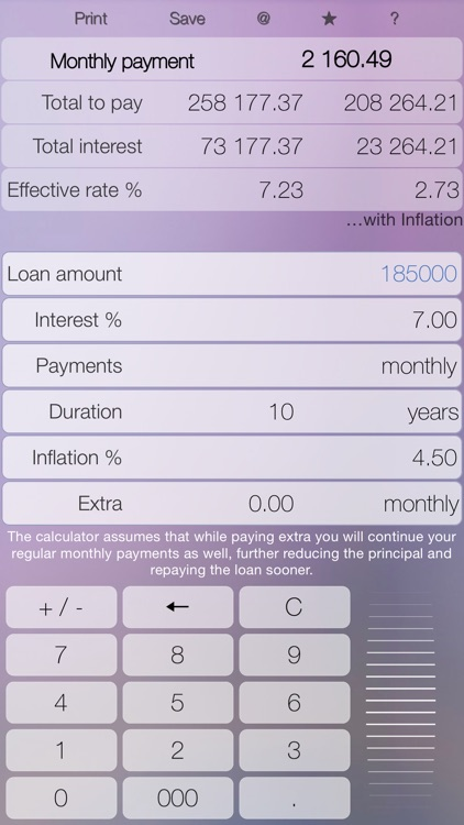 Mortgage - loan calculator