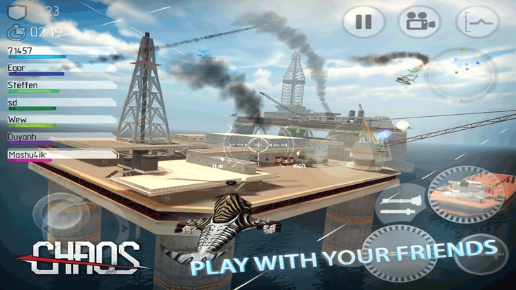 CHAOS Combat Copters HD -­ #1 Multiplayer Helicopter Simulator 3D screenshot-4