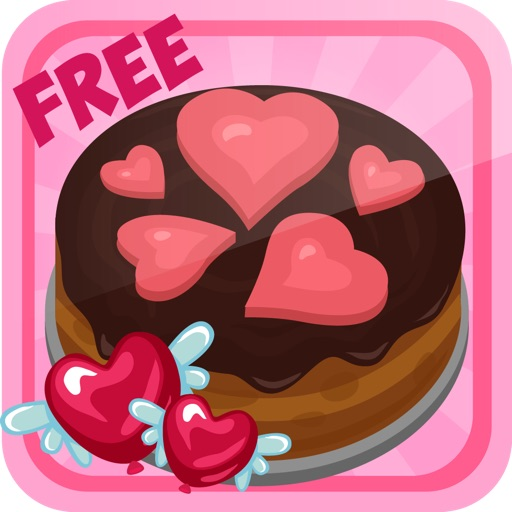 Love Cake Maker Kids Cooking Event Decorating Game App Logo