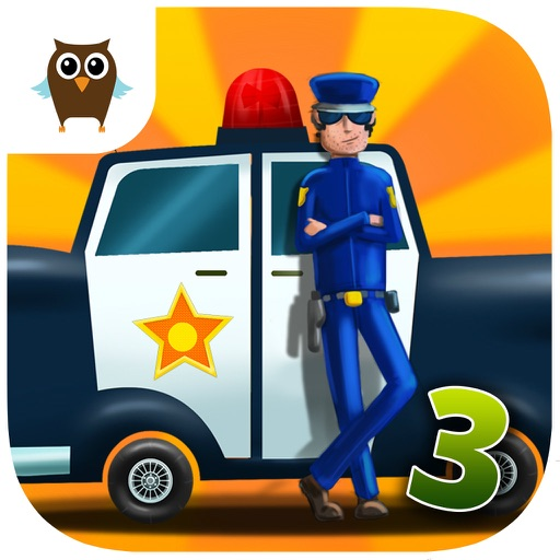 Car Builder 3 Mad Race with Police Car, Hippie Van, Monster Truck and Tank - Kids Game