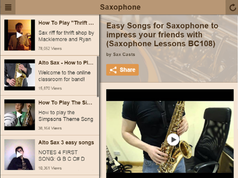 Saxophone Lessons - Learn To Play The Saxophone | App Price Drops