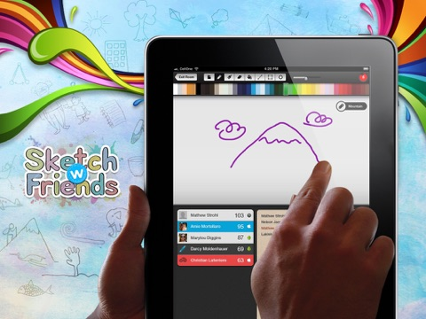 Sketch W Friends - Multiplayer Drawing and Guessing Games for iPad на iPad