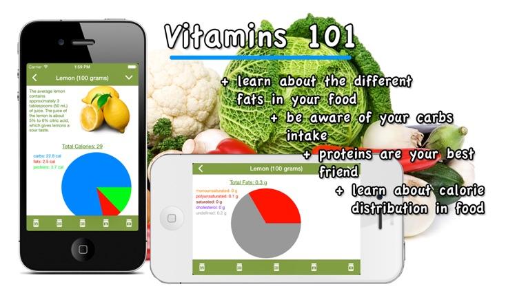 Vitamins 101, the food encyclopedia screenshot-3