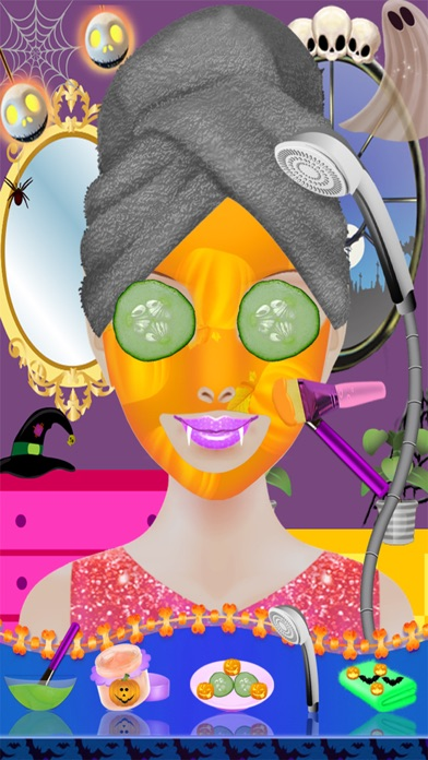 ハロウィン コスチューム パーティー ドレス - スパ サロン不気味な化粧 & 変身子供 10 代のドレス デザイン女の子ゲーム紹介画像5
