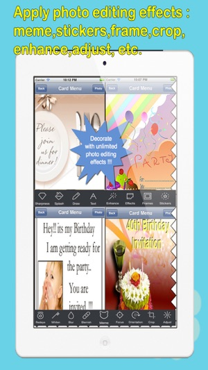 Invitation ecards with photo editorstomize and send invitation invitation ecards with photo editorstomize and send invitation ecards with invitation emojitext and voice messages on the app store stopboris Images