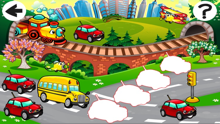 A Sort By Size Game of Cars and Vehicles for Children