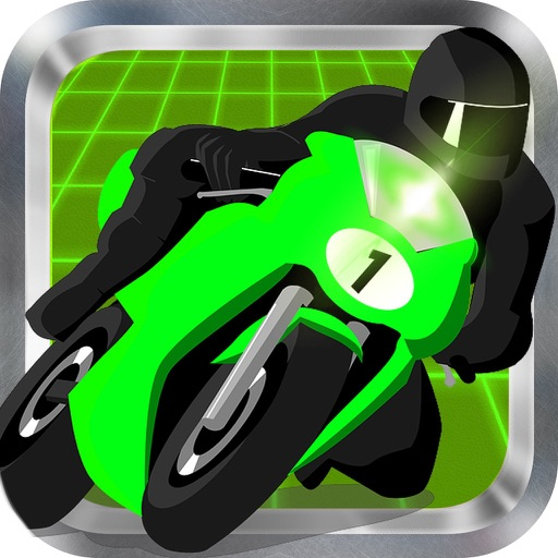 Neon Highway Motorcycle icon