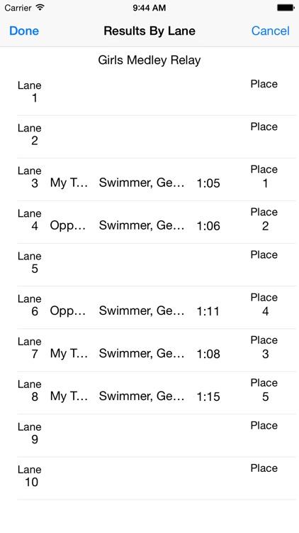Swim Meet Scoring Advanced