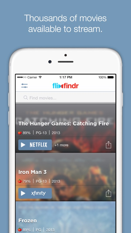 Flixfindr - search streaming movies