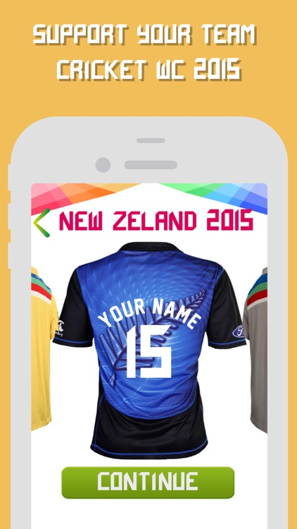 Cricket World Cup 2015 Jersey Maker by Virtual Proz