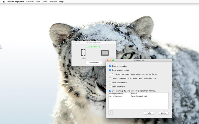 Screenshot of Mocha Keyboard Lite