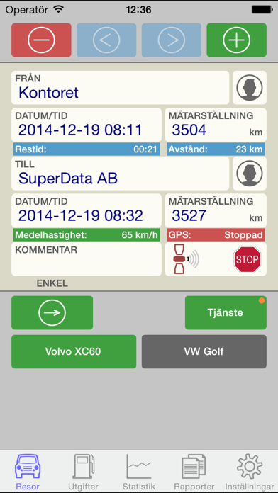 Screenshot for Körjournal in Sweden App Store